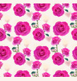 roses and hearts pattern background delicate vector image vector image