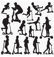 scooter silhouettes vector image
