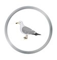 Seagull icon in cartoon style isolated on white vector image vector image