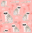 seamless pattern with hand drawn cheetah creative vector image vector image