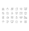 set finance and business icons vector image vector image
