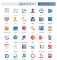 set of trendy flat gradient banking finance vector image