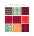 set seamless moroccan pattern vector image