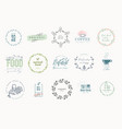set signs for food and drink vector image vector image