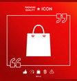 shopping bag symbol vector image