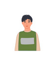 smiling boy portrait in casual clothing in cartoon vector image