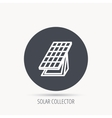 Solar collector icon Sunlight energy battery vector image