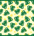 summer tropical jungle monstera pattern vector image vector image
