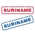 Suriname Rubber Stamps vector image vector image