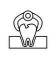 tooth extraction icon vector image vector image