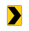 usa traffic road sign a sharp right curve vector image vector image