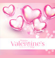 valentine s day design template with glossy heart vector image
