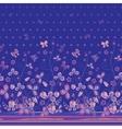 Vertical Seamless spring dark blue floral pattern
