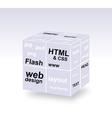 Web cube vector image
