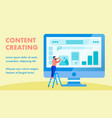 website interface content creating banner layout vector image