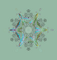 winter christmas snow flat crystal element xmas vector image vector image