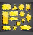 yellow tablets set vector image