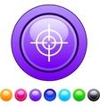 Sight circle button vector image