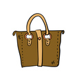 Brown handbag vector image