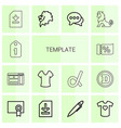 14 template icons vector image vector image