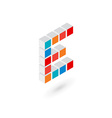 3d cube letter E logo icon design template vector image
