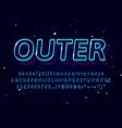 3d outline typeface text effect logo sport shop vector image vector image