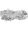 a study in banjo lessons text word cloud concept vector image vector image