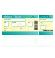 airline ticket 01 vector image