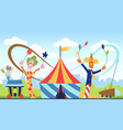 amusement park fun park theme kids vector image vector image