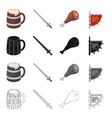 Attributes tourism museum and other web icon in