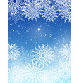 background with white snowflakes isolated on blue vector image vector image