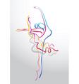 ballet stream vector image vector image