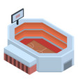 basketball arena icon isometric style vector image vector image
