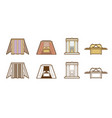 bible icons tabernacle tent temple ark cartoon vector image