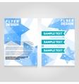 Brochure flier design template concert vector image
