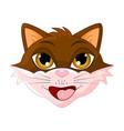 cat head cartoon symbol icon design vector image vector image