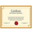 Certificate template vector image