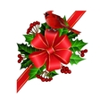 Christmas decoration with bow vector image vector image