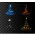 christmas festive tree vector image