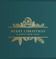 christmas frame banner with vintage typography and vector image vector image
