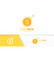coin and bomb logo combination money and vector image vector image