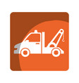 crane service isolated icon vector image vector image