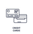 credit card line icon concept credit card vector image vector image