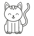 cute cat animal tender isolated icon vector image