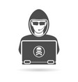 cyber crime concept with logo hacker vector image vector image