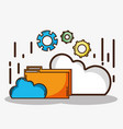 database server that save system information vector image