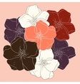Decorative floral colored background vector image