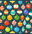 different christmas bauble and color confetti vector image vector image