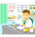 doctor in his office vector image
