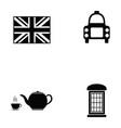 england icon set vector image vector image